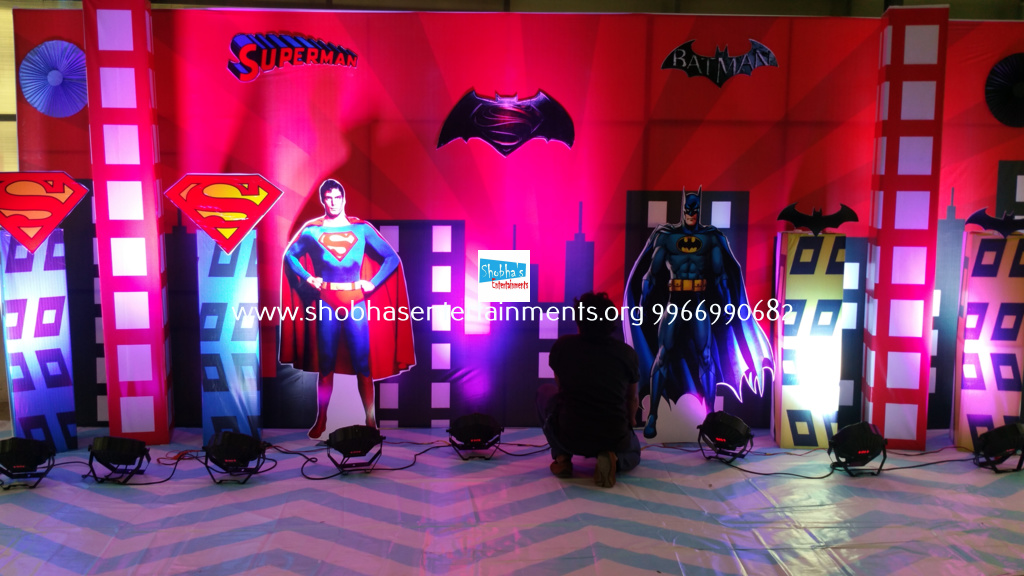 Batman Vs Superman theme birthday decorations for Rashaads 5th