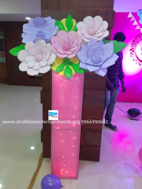 Paper craft flower birthday party decorators in Hyderabad (10)