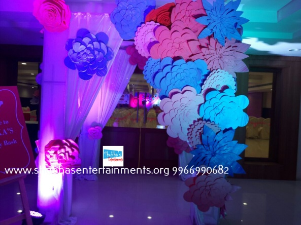 Paper craft flower birthday party decorators in Hyderabad (2)
