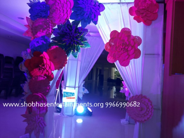 Paper craft flower birthday party decorators in Hyderabad (3)