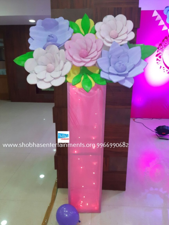 Paper craft flower birthday party decorators in Hyderabad (4)