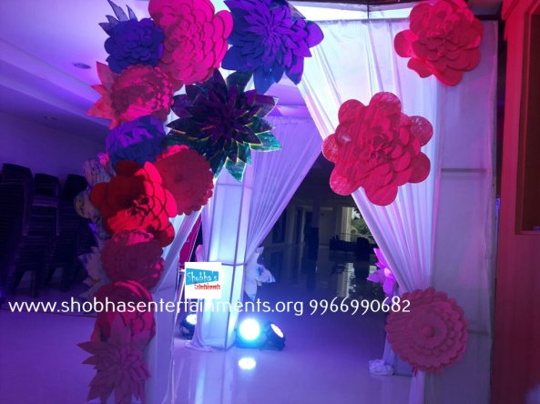 Paper craft flower birthday party decorators in Hyderabad (5)