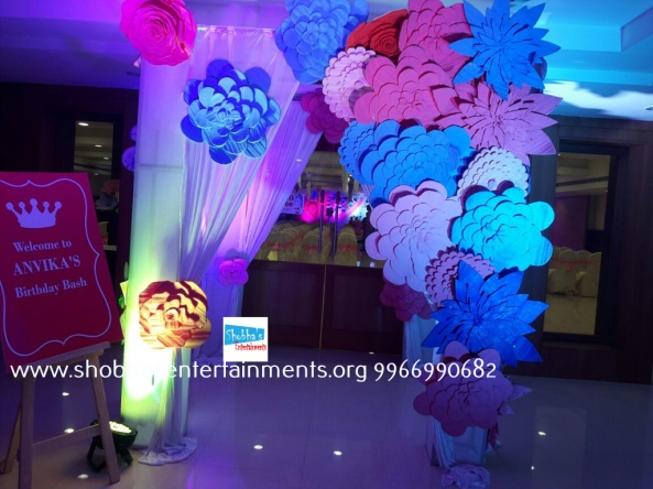Paper craft flower birthday party decorators in Hyderabad (7)
