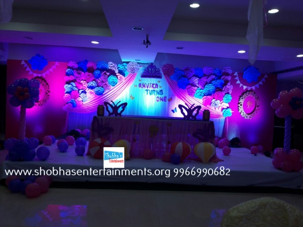 Paper craft flower birthday party decorators in Hyderabad (8)