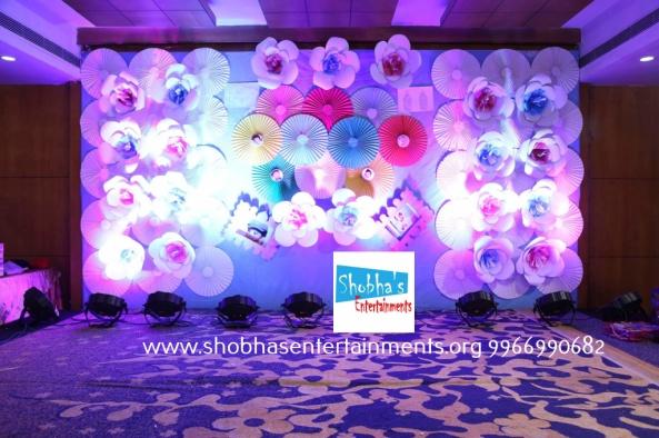 Fancy Birthday Party Decorations With Paper Craft In Hyderabad At Ashoka Hotel Lakdikapool