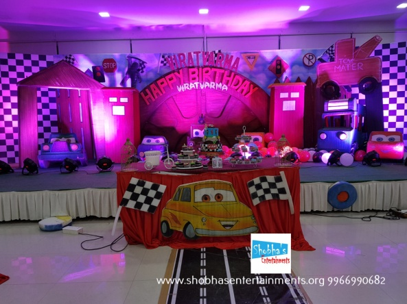 Cars Theme Birthday Party Decorators In Hyderabad 17