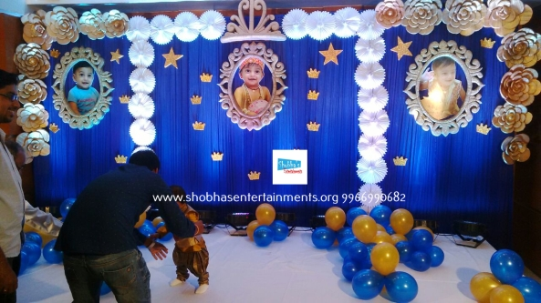 Prince Theme Birthday Party Decorations With Paper Craft In Hyderabad