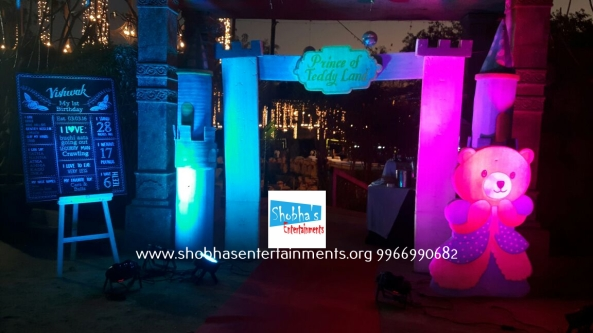 teddy prince theme birthday party decorations in Hyderabad (5)