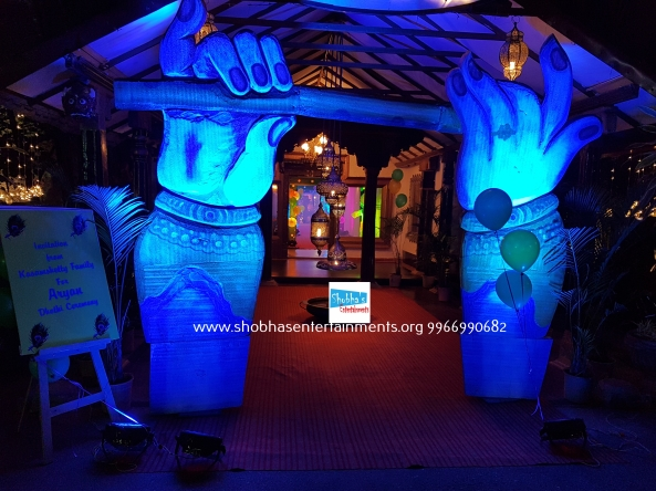 krishna theme birthday decorators in Hyderabad (1)
