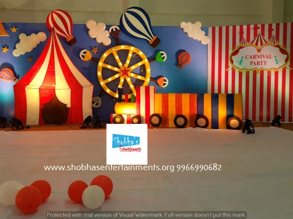 carnival theme birthday party decoartions in hyderabad (8)