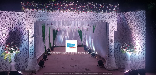 reception flower decorators in hyderabadshobhas Enetrtainments (25)