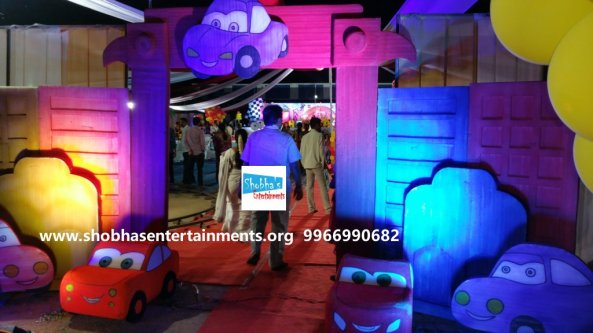 Disney Cars Theme Birthday Party Decorators In Hyderabad If You Are Finding An Event Manager Or Event Management Company To Organize Your Kids 1st Birthday Party With The 3d Theme Decorations Then